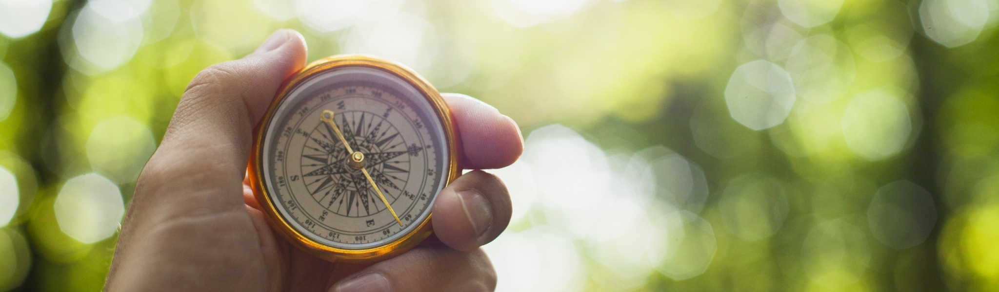 hand-holding-compass-with-blurred-background